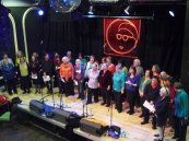 The choir performing in March 2010