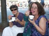Caroline eating icecream at Sing for water London 2011