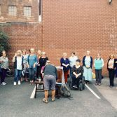 """""""Peeps In Car Parks"""" A favourite standby rehearsal space of Picturehouse choir!"""